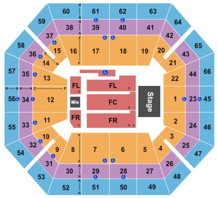 Taco Bell Arena Tickets And Taco Bell Arena Seating Charts