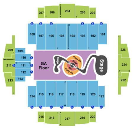 Justin Timberlake Seating Map Tacoma Dome