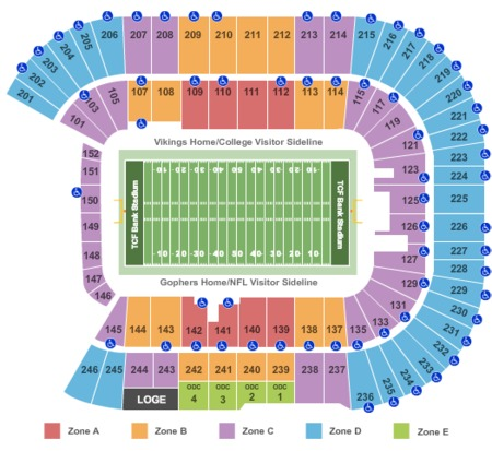 Tcf Bank Stadium Tickets And Tcf Bank Stadium Seating