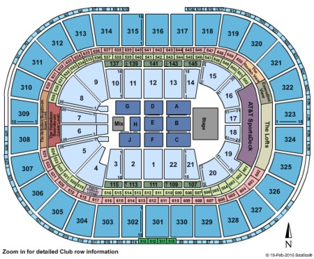 Kevin Hart Seating Map. TD Garden