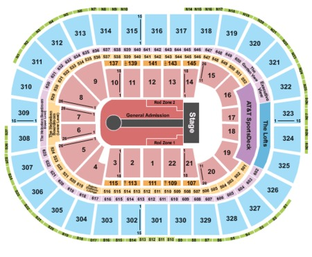 U2 Seating Map. TD Garden