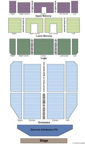 Endstage Pit Seating Map Tower Theatre