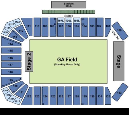 Ga 2 Stage Seating Map Toyota Stadium