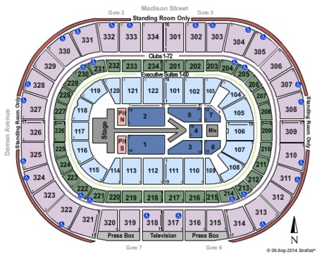 Maroon 5 Seating Map United Center