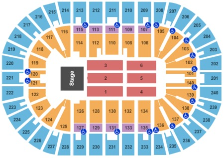 Us Bank Arena Tickets And Us Bank Arena Seating Charts 2019 Us - Us-bank-arena-seat-map