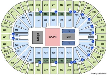 US Bank Arena Tickets And US Bank Arena Seating Charts US - Us bank arena cincinnati map