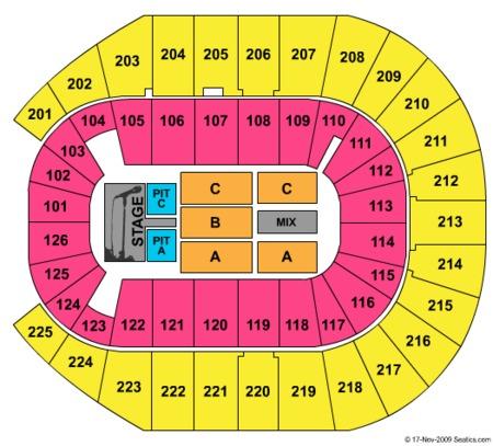 Verizon arena tickets and verizon arena seating charts 2018