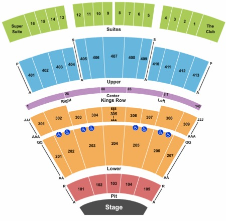 End Stage Seating Map Verizon Theatre At Grand Prairie