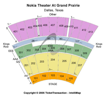 Other Seating Map Verizon Theatre At Grand Prairie
