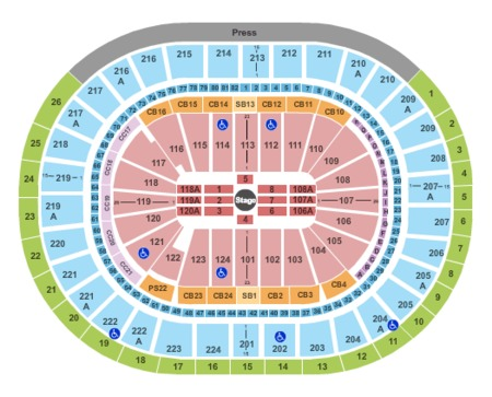 Pics Photos  Seat Map For Wells Fargo Center Phl