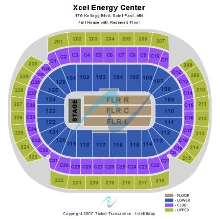 Xcel Energy Seating
