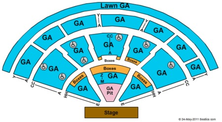 General Admission Seating Map Xfinity Center